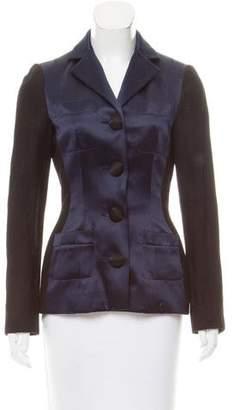 Lanvin Satin-Paneled Wool Jacket