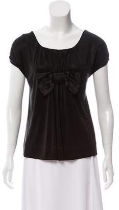 By Malene Birger Bow-Accented Short Sleeve Top w/ Tags