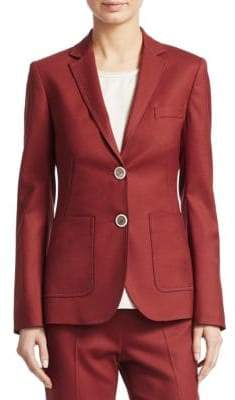 Piazza Sempione Two-Button Stretch Wool Blazer