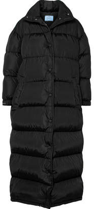 Prada Quilted Shell Coat - Black