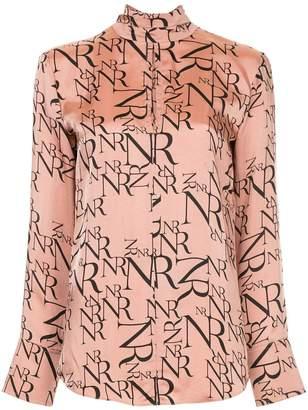 Nina Ricci logo print blouse