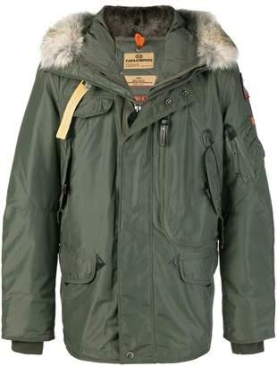 Parajumpers fur trimmed coat