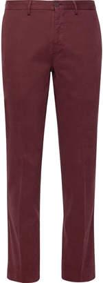Incotex Slim-Fit Stretch-Cotton Twill Trousers - Men - Burgundy