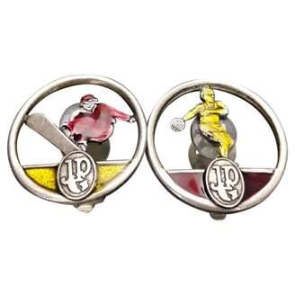 Jean Paul Gaultier Vintage Silver Metal Earrings