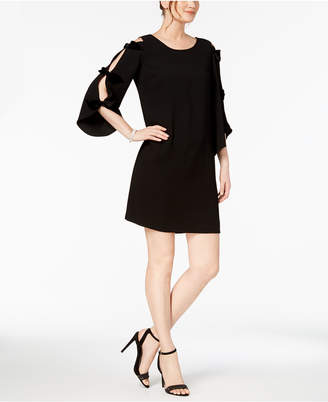MSK Petite Bow-Sleeve A-Line Dress