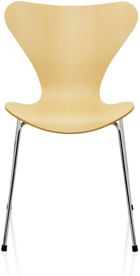 Fritz Hansen - Serie 7 Stuhl, Buche natur, verchromt, 46.5 cm