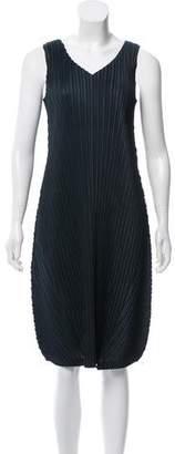 Pleats Please Issey Miyake Sleeveless Plisse Dress