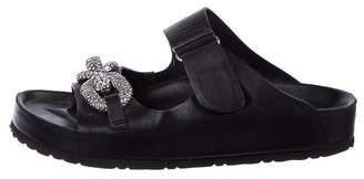 Giambattista Valli Chain-Embellished Slide Sandals