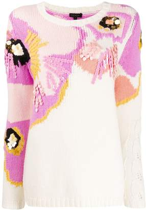 Escada sequin embellished knit jumper