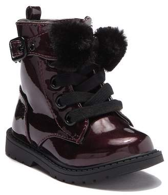 Naturino Express Faux Fur Pom Pom Boot (Toddler & Little Kid)