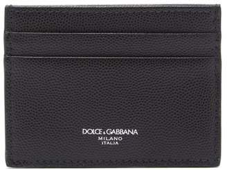 Dolce & Gabbana Pebbled Leather Cardholder - Mens - Black