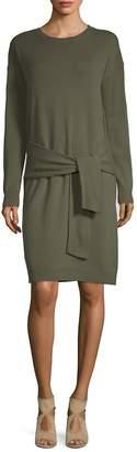 Vince Women's Tie Waist Cashmere Knee-Length Dress