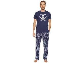 Nick Graham Jolly Roger Short Sleeve Lounge Set Men's Pajama Sets