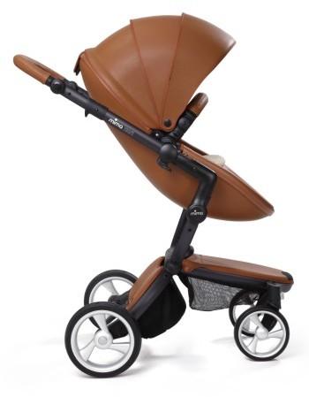 Infant Mima Xari Black Frame Stroller With Reversible Reclining Seat & Carrycot 4