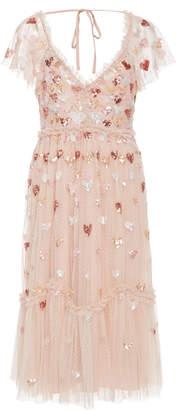 Needle & Thread Loveheart Sequin Tulle Midi Dress