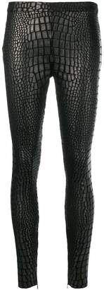 Tom Ford croc-effect leggings