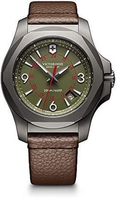Victorinox Men's 'I.N.O.X.' Swiss Quartz Titanium and Leather Casual Watch
