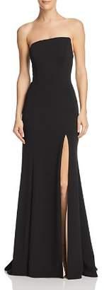 Aqua Strapless Scuba Crepe Gown - 100% Exclusive