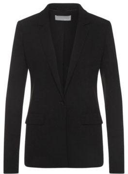 Hugo Boss Jikalea Viscose Blazer 0 Black $625 thestylecure.com