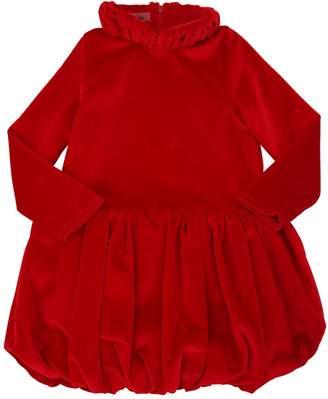 Cotton Velvet Party Dress