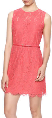 Luna Coral Lace Dress