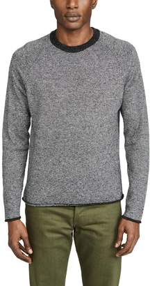 Billy Reid Cotton Silk Stripe Sweater