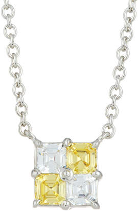 FANTASIA Asscher-Cut Crystal Pendant Necklace