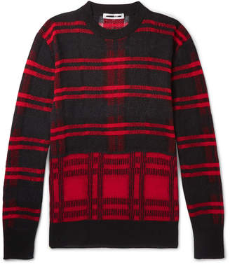 McQ Checked Linen-Blend Sweater