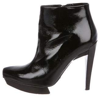 Michael Kors Patent Leather Ankle Boots