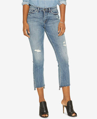 Silver Jeans Co. Mazy Super-Stretch Cropped Bootcut Jeans