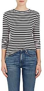 Barneys New York Women's Striped Cotton Long-Sleeve T-Shirt-Pink