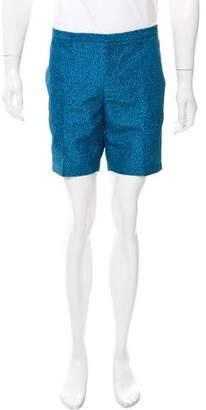 Calvin Klein Collection Flat Front Printed Shorts w/ Tags