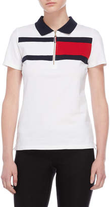 Tommy Hilfiger Flag Print Polo Shirt