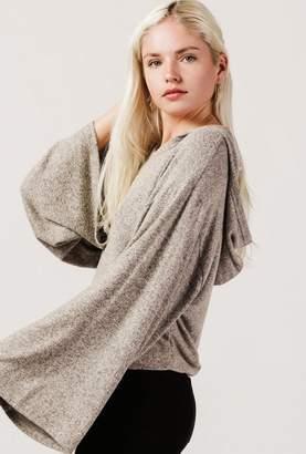 Azalea Hooded L/S Knit Sweater