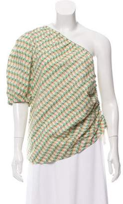 Petersyn One- Shoulder Printed Top w/ Tags
