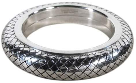 Bottega VenetaBottega Veneta Sterling Silver Woven Pattern Bracelet