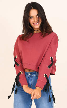 Showpo Its You And Me sweater in plum