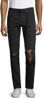 Off-White Slim-Fit Distressed Jeans