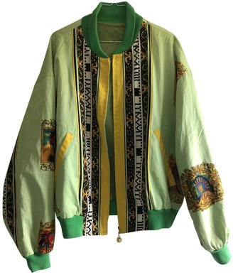 Versus Green Cotton Jacket for Women Vintage