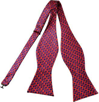 Pense'e PenSee Mens Exquisite Geometric Woven Silk Self Bow Ties-Various Colors & Styles
