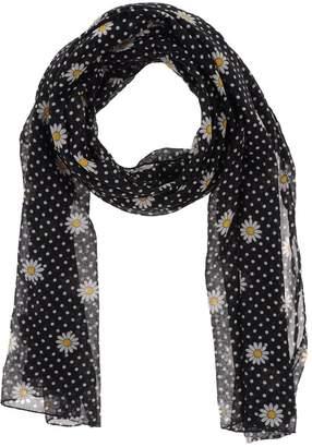 logo embroidered knitted scarf - Black Saint Laurent 5rHz88