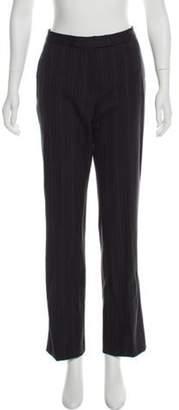 Etro Mid-Rise Wool Pants Grey Mid-Rise Wool Pants