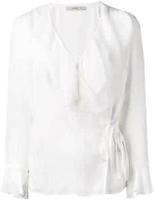 Etro ruffled wrap blouse