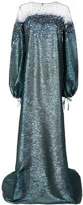 Oscar de la Renta ombré crystal-embellished gown