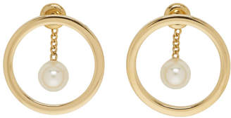 Chloé Gold Pearl Darcey Hoop Earrings