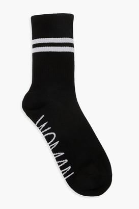 boohoo Woman Sports Stripe Ankle Socks
