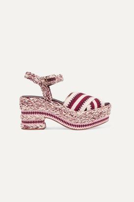 0b5a6ee7b372 Antolina - Brenda Braided Cotton Sandals - Burgundy