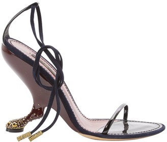 Louis Vuitton Black Patent leather Sandals