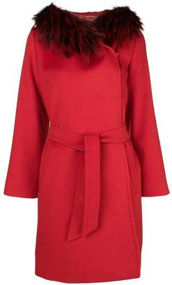 Max Mara belted wrap front coat