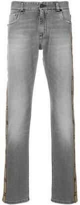 Fendi logo stripe jeans